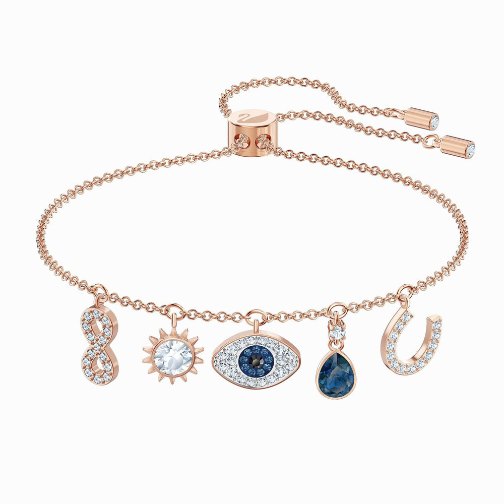 Swarovski Swarovski Symbolic Bracelet, Multi-colored, Rose-gold tone plated