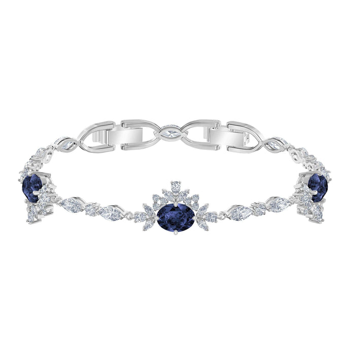 Swarovski Palace Bracelet, White, Rhodium plated