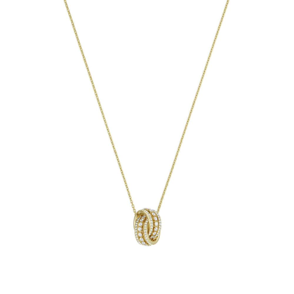 Further Necklace, White, Gold-tone plated