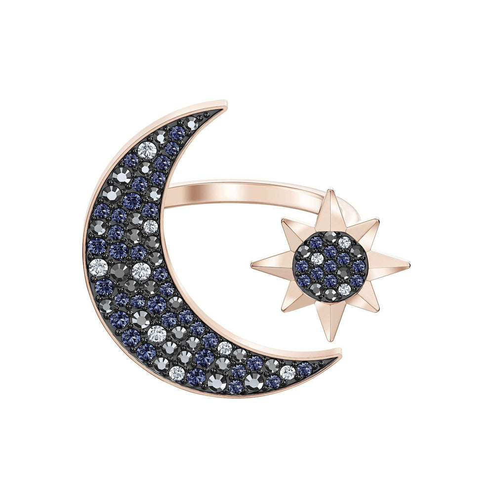 Swarovski Swarovski Symbolic Moon Ring, Multi-colored, Rose-gold tone plated