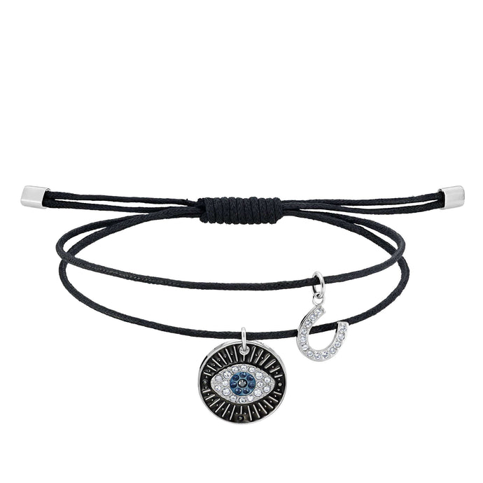 Swarovski Unisex Evil Eye Bracelet, Multi-colored, Stainless steel