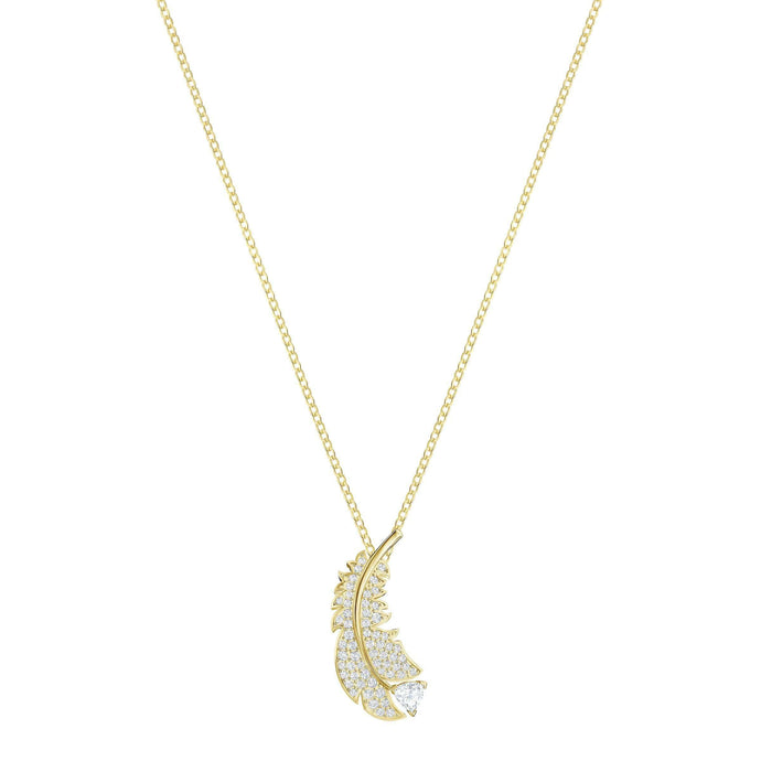 Swarovski Nice Necklace, White, Gold-tone plated