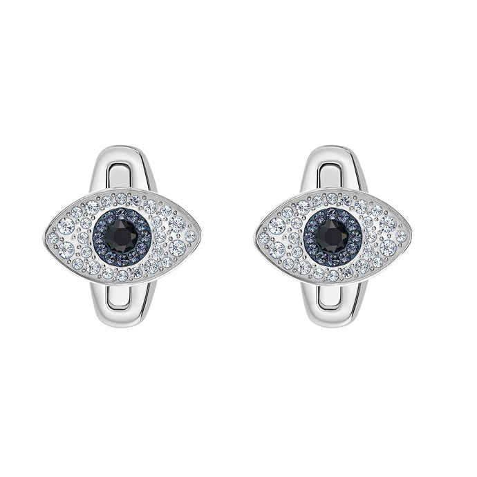 Swarovski Unisex Evil Eye Cuff Links, Multi-colored, Stainless steel