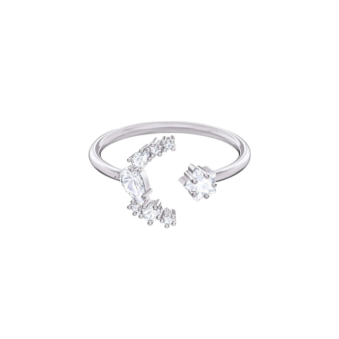 Swarovski Moonsun Motif Ring, White, Rhodium plated