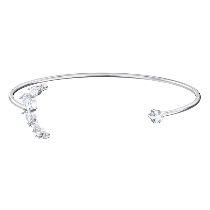 Swarovski Moonsun Cuff, White, Rhodium plated