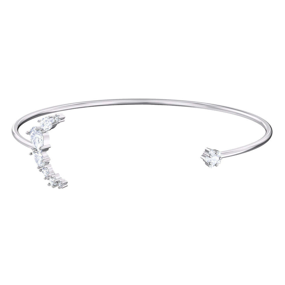 Moonsun Cuff, White, Rhodium plated