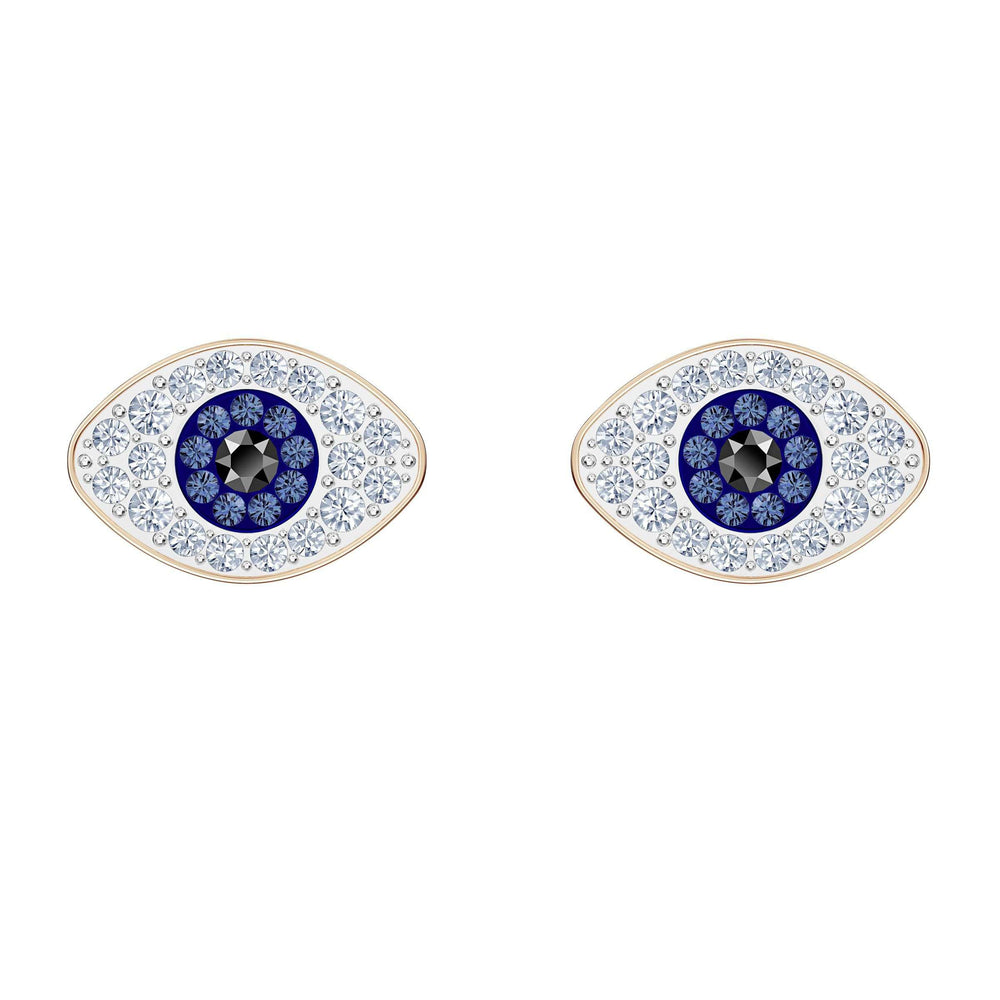 Swarovski Swarovski Symbolic Stud Pierced Earrings, Blue, Rose-gold tone plated