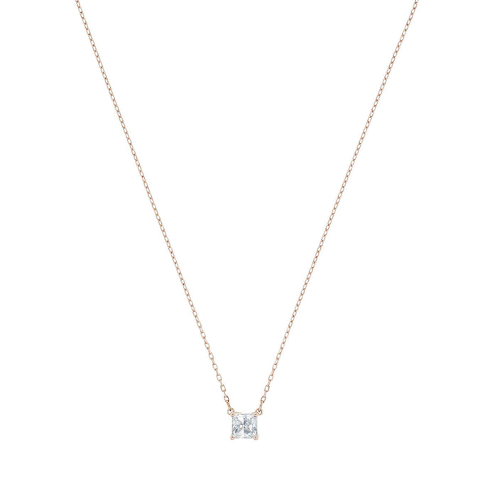 Swarovski Attract Necklace, White, Rose-gold tone plated