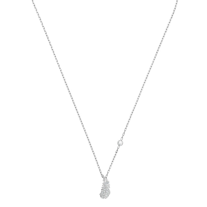Swarovski Naughty Necklace, White, Rhodium plated