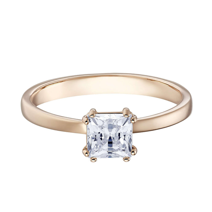 Swarovski Attract Motif Ring, White, Rose-gold tone plated