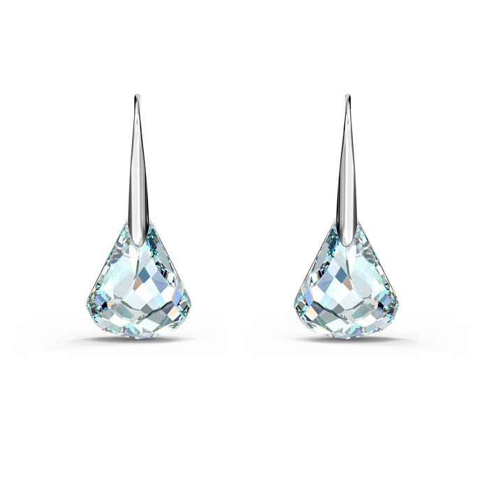 Spirit Pierced Earrings, White, Rhodium plated