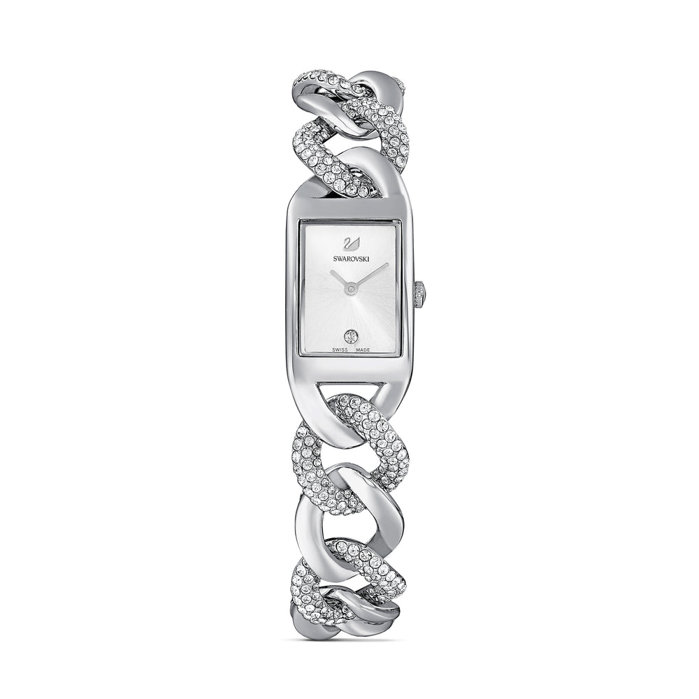 Cocktail Watch, Metal bracelet, Silver tone, Stainless steel