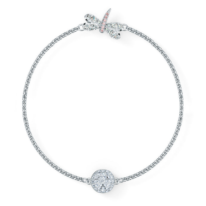 Swarovski Remix Collection Dragonfly Strand, White, Rhodium plated