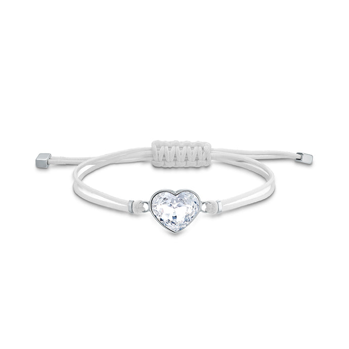 Swarovski Power Collection Heart Bracelet, White, Stainless steel