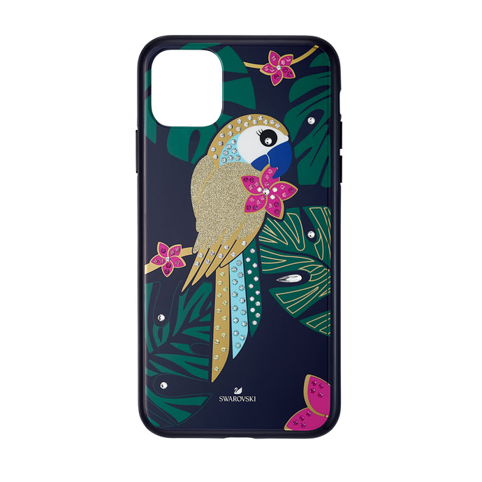 Tropical Parrot Smartphone Case with Bumper, iPhone® 11 Pro Max, Dark multi-colored