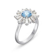 Load image into Gallery viewer, Sunshine Ring, Blue, Rhodium plated
