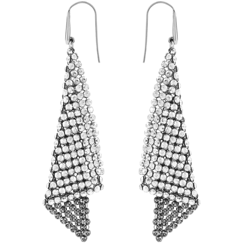 Fit Refresh Pierced Earrings, Gray, Rhodium Plated