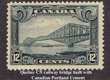 The bridge over the St.Lawrence River at Quebec City used Marlbank cement, as did the Panama Canal, Toronto City Hall, and the Peterborough Lift Locks.