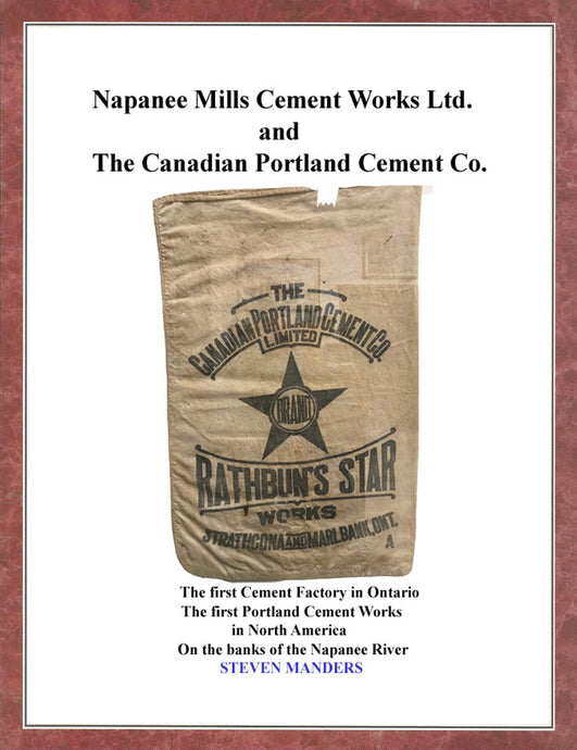 This cotton cement bag held 125 pounds of cement powder.  They were also porous.  It would have been used about 1891 when both plants operated briefly at the same time.