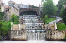 The locks in Ottawa descending to the Ottawa River.