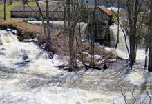 Forest mills, spring flood.