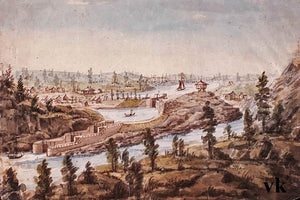 The Rideau Canal at Kingston Mills is finally operating in 1832.