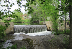 Old mill dam in Arden.