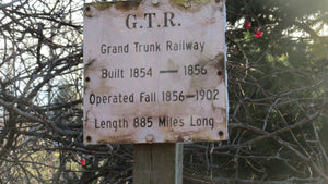 The Grand Trunk Railway ran along Lake Ontario here from 1856 to 1903.