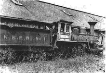 The K&P shunting engine used to build the railway in 1872.