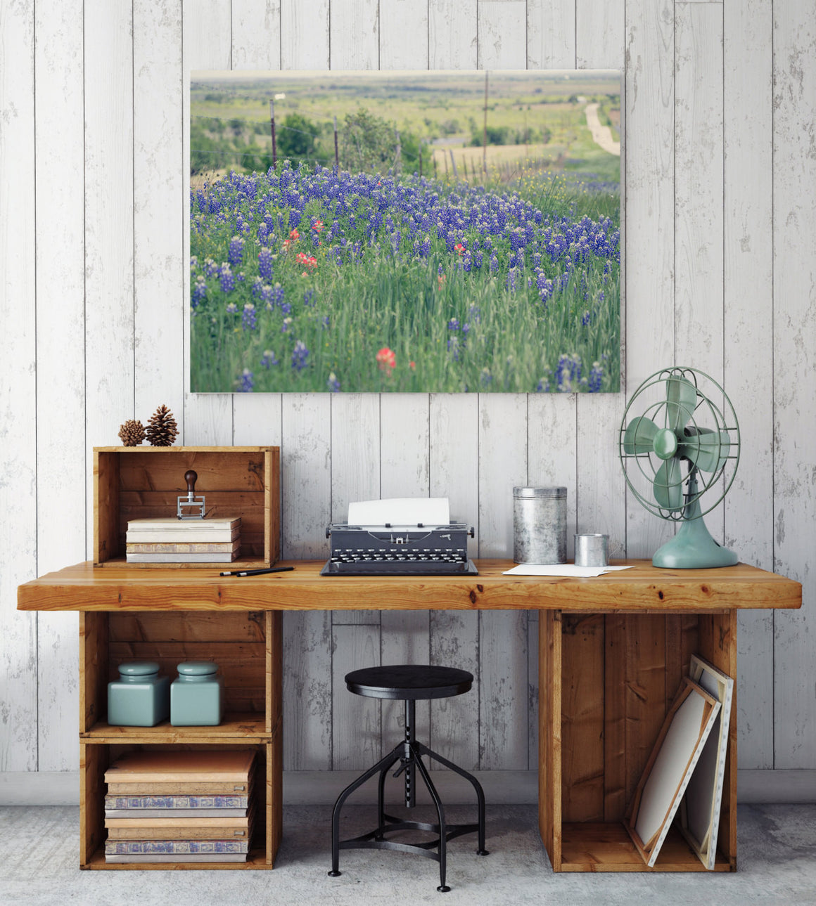 Texas photography, texas bluebonnets, texas art, bluebonnet canvas wrap, large wall art, bluebonnet art, rustic decor, texas decor, nature