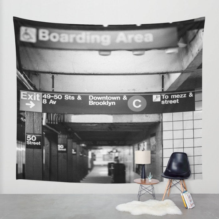 New york city wall tapestry, new york city black and white, new york city photo, nyc tapestries, apartment decor, dorm decor, nyc subway