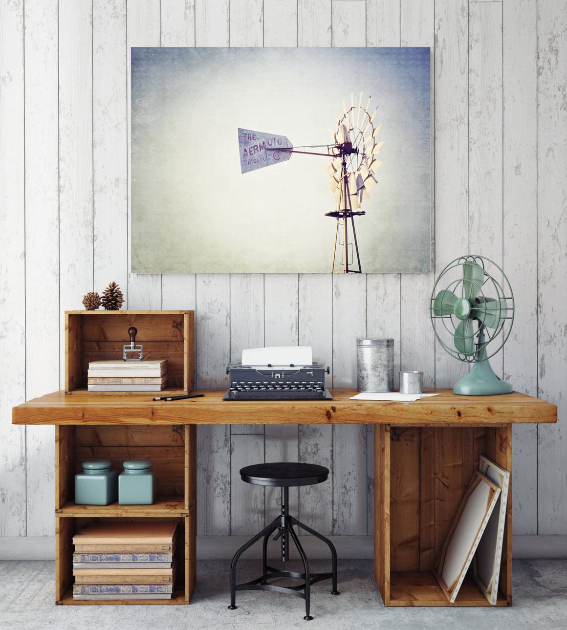 windmill photography, texas photography, canvas gallery wrap, rustic home decor, large wall art, windmill art, texas decor, aermotor, rustic