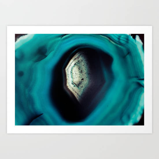 Agate print, agate photography, instant download, mineral print, blue agate, large poster size, natural, mineral, aqua, digital download