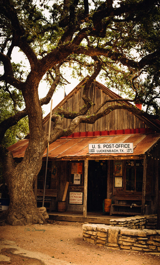 Texas photography, luckenbach print, luckenback country store, texas decor, rustic decor, texas art, man cave, large wall art, canvas