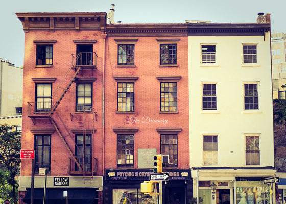 New York City photography, greenwich village, nyc decor, architecture, vintage, large wall art, urban, loft living, manhattan, nyc art
