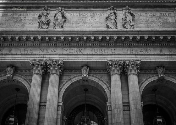 New york public library photography new york city nyc photography black and white urban decor large wall art architectural gift book lover