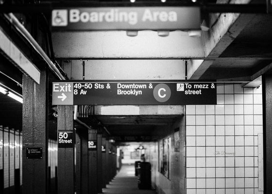 nyc subway photography new york city decor black and white photography subway urban decor masculine brooklyn uptown gritty noir large wall