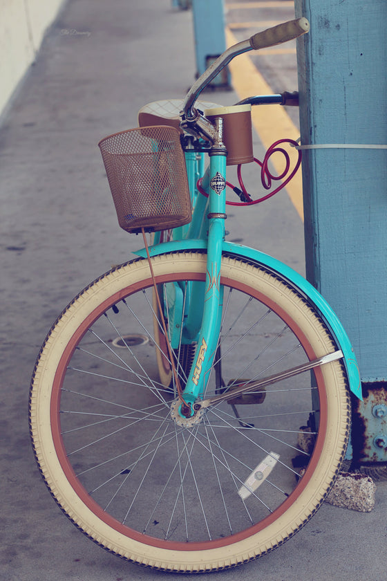 beach photography, beach bicycles, aqua, rustic decor, cottage decor, huffy, vintage bicycle, port aransas, - Beach Bicycle