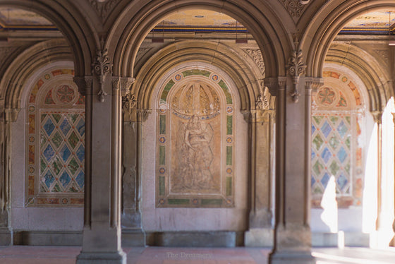 New York City photography, bethesda terrace, central park photography, urban architecture, central park, urban decor, nyc decor, nyc art