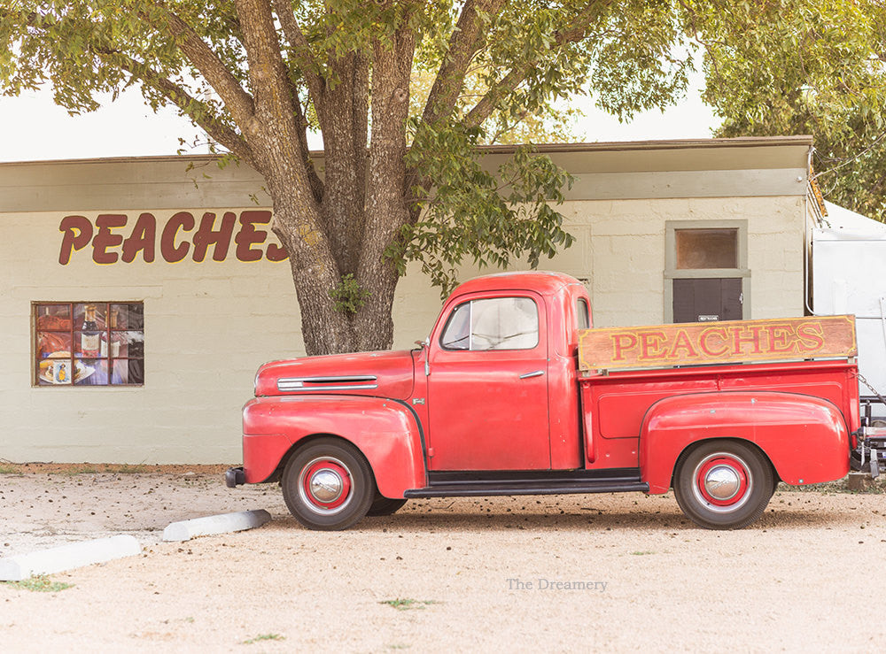 Texas photography, texas hill country, vintage car, retro truck, peaches, fredricksburg texas, rustic decor, rustic photography, man cave