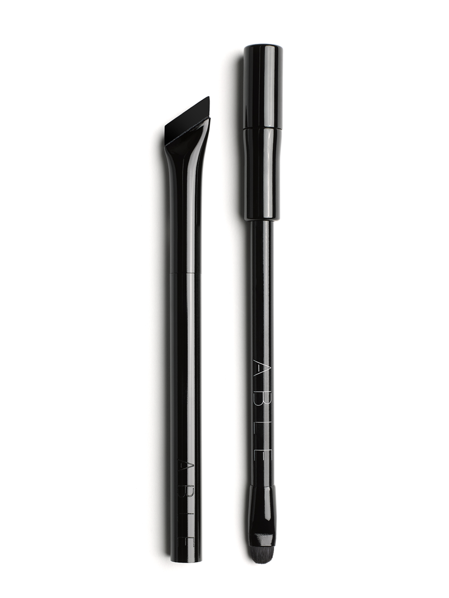 perfect black eyeliner pencil with built-in sharpener and brush, error proof liquid liner