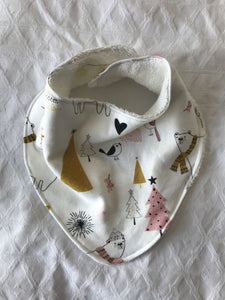 """Christmas Love"" Organic Cotton Slouch Bib"