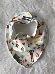 """Nutcracker Dreaming"" Organic Cotton Bandana Bib"