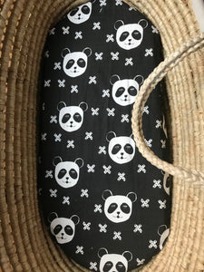 'Panda X Black' Organic Cotton Swaddle Blanket