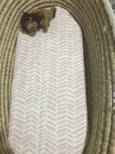 'Pink Impressions' Organic Cotton Swaddle Blanket