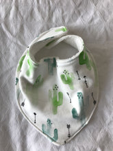 WATERCOLOUR CACTUS Organic Cotton Slouch Bib
