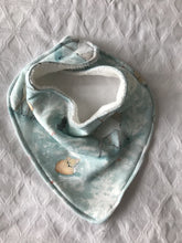 """Woodland Christmas Blue"" Organic Cotton Bandana Bib"