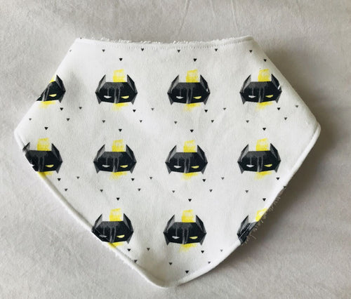 'Batman Yellow' Organic Cotton Slouch Bib
