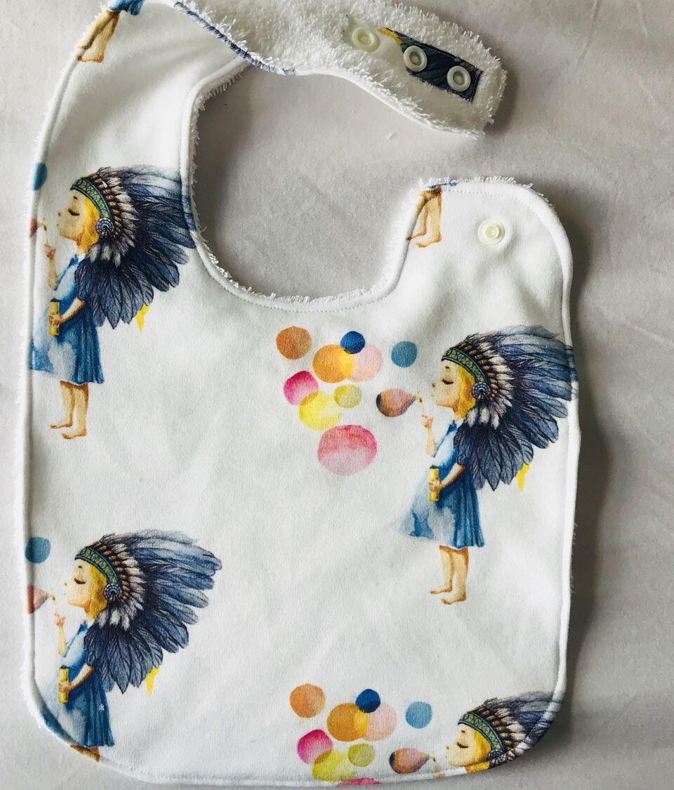 BOHO GIRL Organic Cotton Feeding Bib