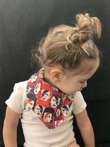 """Bowie Rock"" Organic Cotton Slouch Bib"